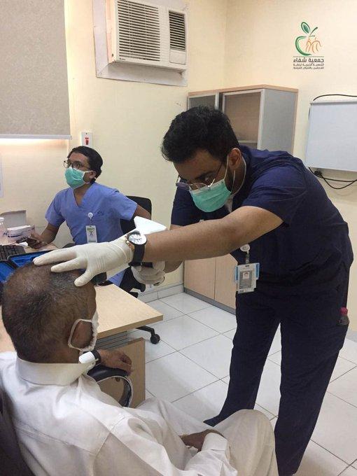 القوافل الطبية لجمعية شفاء تستمر في تقديم خدماتها الصحية في محافظة الجموم