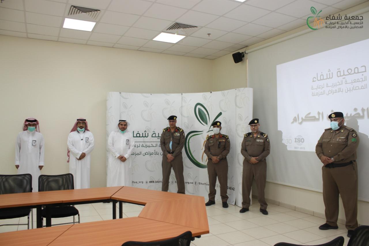 وفد من شرطة العاصمة المقدسة وشعبة الضبط الاداري يزور جمعية شفاء